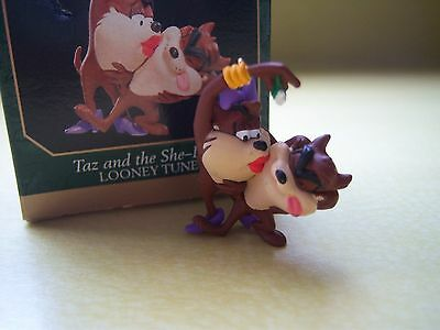 Hallmark Miniature Taz and the She Devil Looney Tunes Ornament