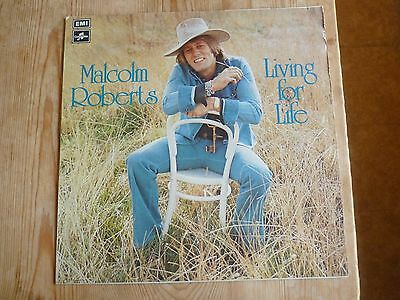 Malcolm Roberts signed vinyl LP Living For Life SCX6553 plays EXminus