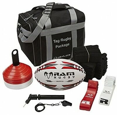 Ram Tag Rugby Package - Includes Tag Belts, Rugby Ball, Pump, Whistle, Cones -