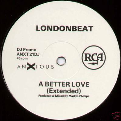 "Londonbeat ~ A Better Love (Extended) ~ 1990 Uk 3-Track ""promo"" 12"" Single"