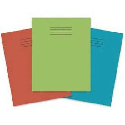 100 x Rhino School Exercise Books 48 Page A5+ 8mm Lined paper various Colours