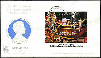 Bermuda 1985 The Queen Mother M/S FDC First Day Cover #C42354