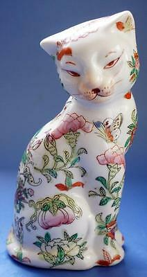 Antique Japanese Oriental Imari Enamel Porcelain Animal Figure Seated Cat