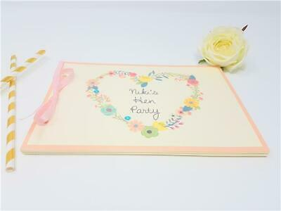 Personalised Baby Shower Guest Book Memory Games Floral Heart Keepsake