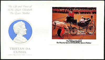 Tristan Da Cunha 1985 The Queen Mother M/S FDC First Day Cover #C42380