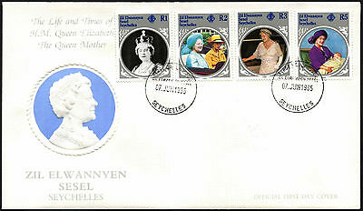 Zil Elqannyen Sesel 1985 The Queen Mother FDC First Day Cover #C42383