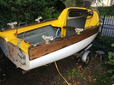 """SEASAFE FISHING BOAT 14ft 3"""" long WITH TRAILER"""