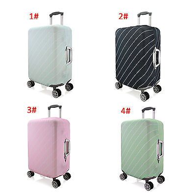 Stripes Elastic Dustproof Protector Cover For 26''-28''Travel Luggage Suitcase L