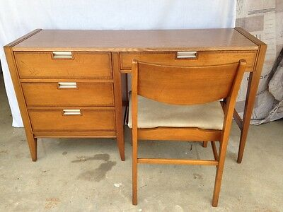 Vintage Mid Century Modern Basic Witz Desk & Chair Wood with Formica Top