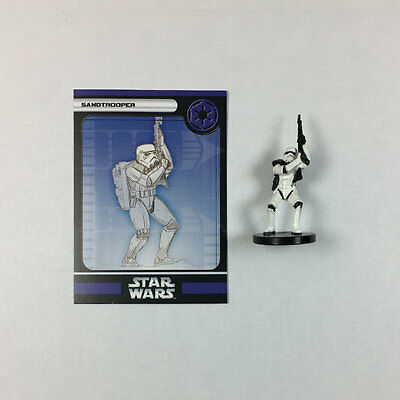 Star Wars Miniatures Champions of the Force #50 Sandtrooper (w/card)