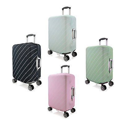 Stripe Design Elastic Dustproof Protector Cover For Travel Luggage Suitcase