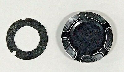Arlen Ness Black Beveled Gas Cap for Indian Scout 14-Up Victory Octane 16-Up