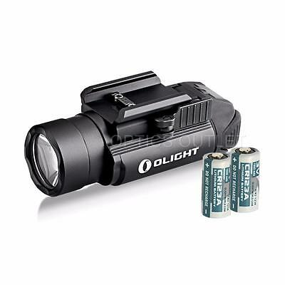 Olight PL-2 Valkyrie 1200 Lumen LED Pistol Light with 2x CR123A Batteries