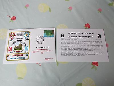 BRENTFORD v WIGAN Freight Rover Trophy Final 1985 FOOTBALL First Day Cover
