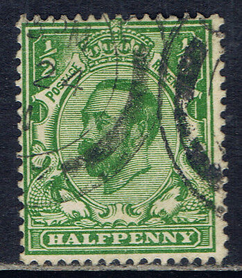 Great Britain #151(1) 1911 1/2 pence green George V Used CV$4.50