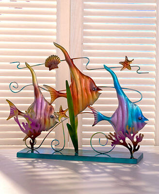 The Lakeside Collection Metal Sealife Sculptures-Tropical Fish