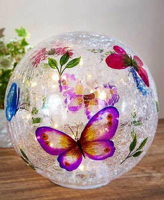The Lakeside Collection Large Lighted Painted Glass Orb