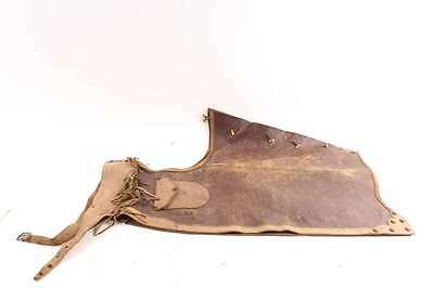 Vintage Antique Western Cowboy Leather Chaps With Pockets