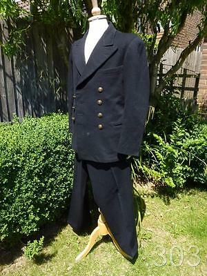 WWII RN Royal Navy Naval Officer's Uniform Jacket Tunic & Trousers