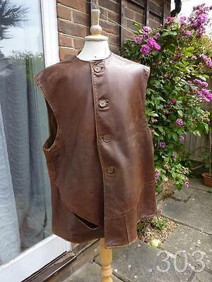 WWII / Post War British Army Military Leather Jerkin, XLarge