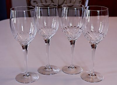 """MINT Set 4 Orrefors """"Prelude"""" 8 1/4"""" WATER GOBLET Crystal Glasses MORE AVAILABLE"""