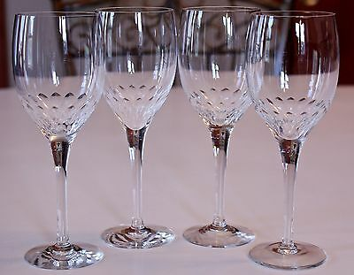 """MINT! Set 4 Orrefors """"Prelude"""" 7 3/8"""" CLARET WINE Crystal Glasses MORE AVAILABLE"""