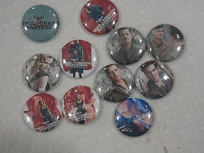 Inglorious Basterds Pin Set 11x Movie Merchandise Collectible Quentin Tarantino