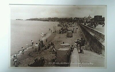 The Beach. Northern Promenade. Whitley Bay. Postcard