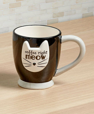 The Lakeside Collection Crazy Cat Mugs - Coffee Right Meow Mug