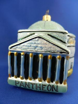 Pantheon Rome Italy Blown Glass Christmas Tree Ornament Travel 011297