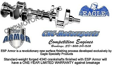 SB Chevy 327 Eagle Forged Crankshaft 3.250 Crank wtih ESP Armor Finish