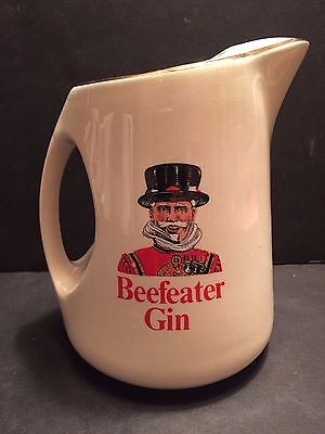 Beefeater Gin White Liquor Bar Pub Pitcher Barware Vintage Wade Pottery