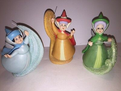 Sleeping Beauty Fairy Godmother Figurines Set Of All 3 - China Rare Disney