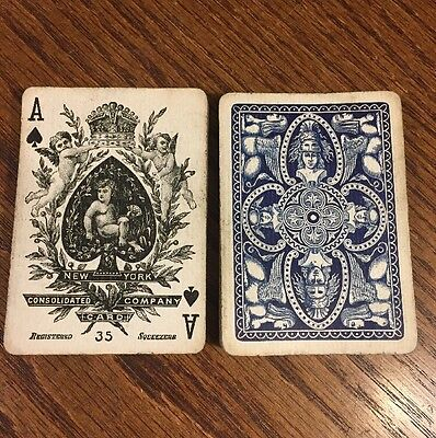 Antique Samuel Hart No35 Squeezers Consolidated Playing Cards US Vintage Rare