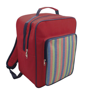 Country Club 17L Backpack Cooler Bag Stripe Practical Back Pack Picnic Lunch