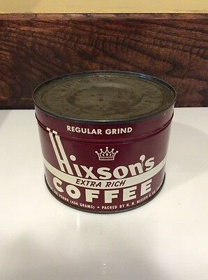 Hixson's one pound coffee can unopened