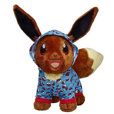 New Build-a-Bear Eevee POKEBALL SLEEPER Hoodie PJs Pokemon Outfit Poke Ball