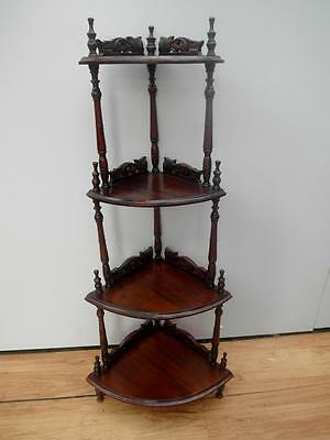 VINTAGE Timber CORNER What NOT Whatnot SHELVES Stand VICTORIAN QZZQ Adelaide
