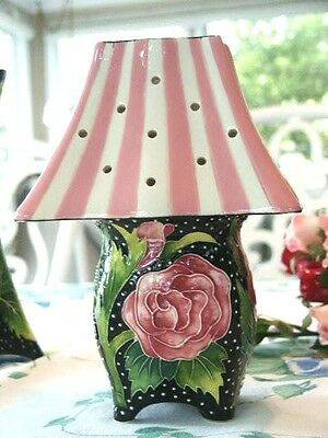 2004 BLUE SKY J McCall Icing on the Cake Pink Roses Candle Holder Votive