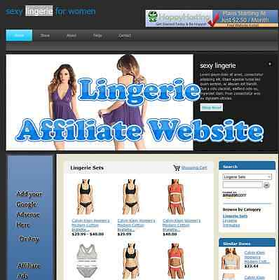 Automated Amazon Affiliate Lingerie Website Business For Sale Adsense