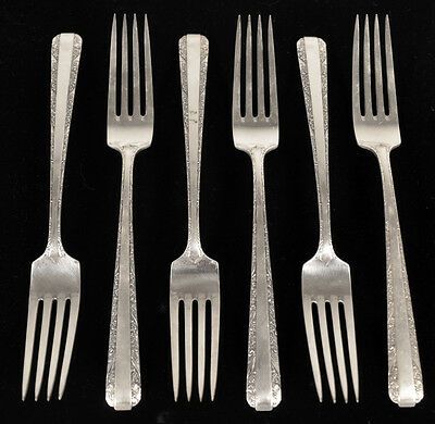 """Vintage Towle Candlelight Sterling Silver 7.5"""" Dinner Forks by Towle, Set of 6"""