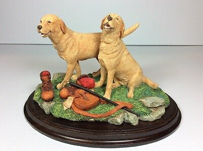 Country Artists 00998 Labradors Start Of The Day Dog 1997 K SHERWIN CA SIGNED MS