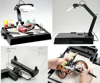Tamiya Work Stand With Magnifying Glass Brand New Hobby Tools 74064
