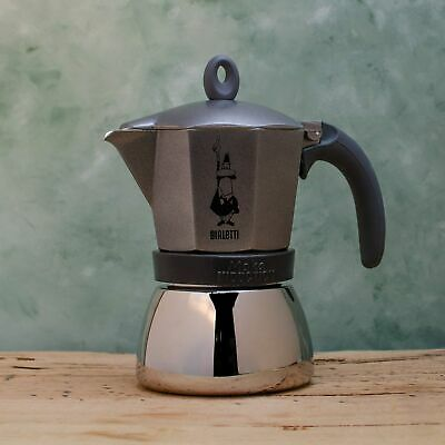 Bialetti Moka Induction Grey Coffee percolator Stovetop Coffee Maker