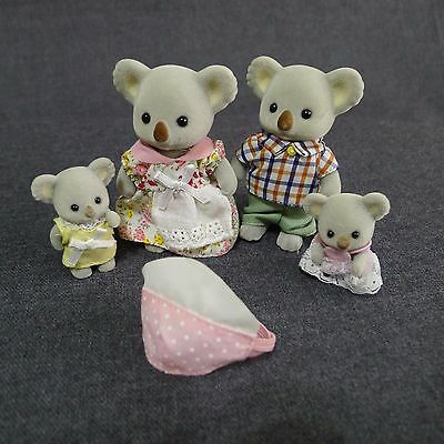 Calico Critters Outback Koala Family Figures 4 Piece Dad Mom Girl Baby