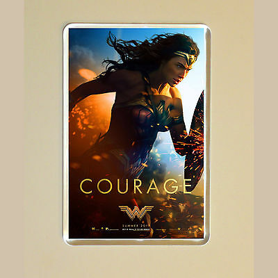 Wonder Woman - Gal Gadot - Chris Pine - Movie Poster Photo Fridge Magnet #3