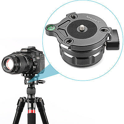 Neewer 10° Leveltilt 69mm Tripod Leveling Base with Offset Bubble Level