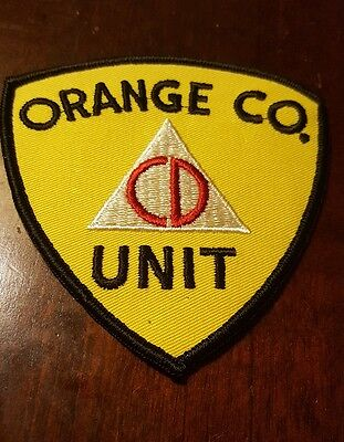 Vintage Orange County NY CA Civil Defense CD Unit Patch New Old Stock