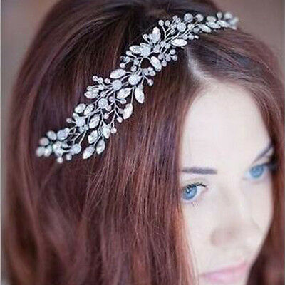 Bridal Headband Wedding Crystal Pearl Diamante Hair Clip Pin Comb Headpiece
