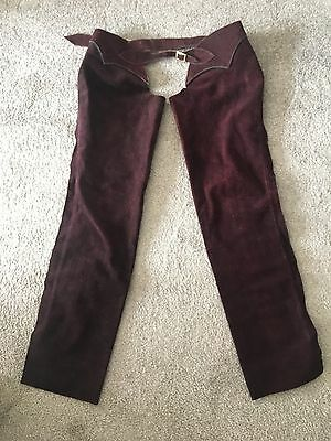 Full length suede horse riding Chaps